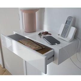 tablette avec tiroir blanc form 50 cm bureau pinterest tablette tiroir et entr e maison. Black Bedroom Furniture Sets. Home Design Ideas