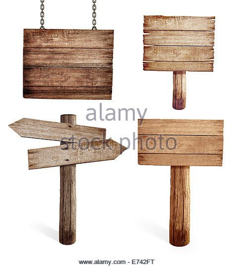 Old Wooden Road Signs Set Isolated Stock Image Hand Painted Signs Road Signs Wooden