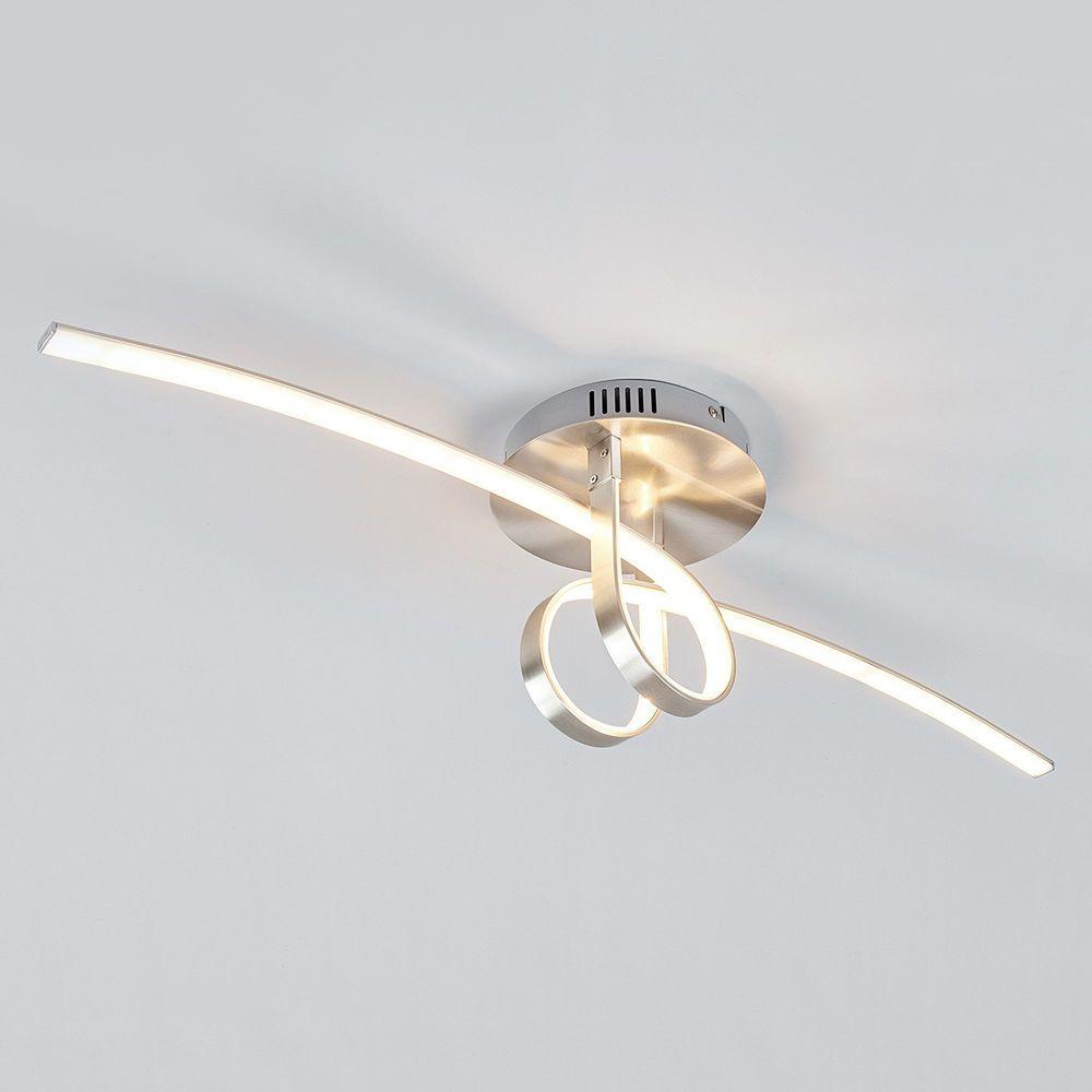 Led Deckenleuchte Eldin Loopform Deckenlampe Lampenwelt Außergewöhnlich Nickel Möbel Wohnen Beleuchtung Deckenlampen Led Deckenleuchte Deckenlampe Led