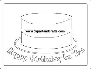 Birthday Cake activity sheet place mat or poster