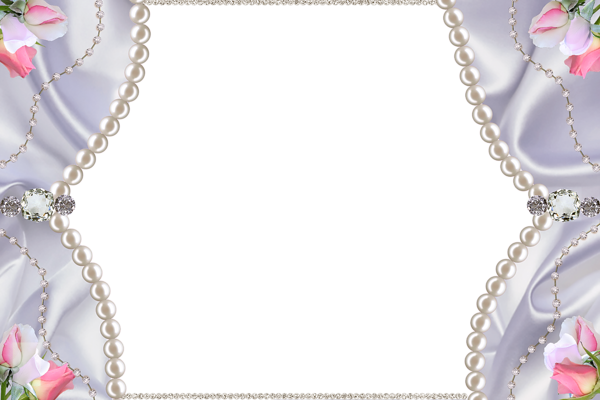 Delicate Png Photo Frame With Pearls Diamonds And Roses Clip Art Freebies Frame Photo Frame