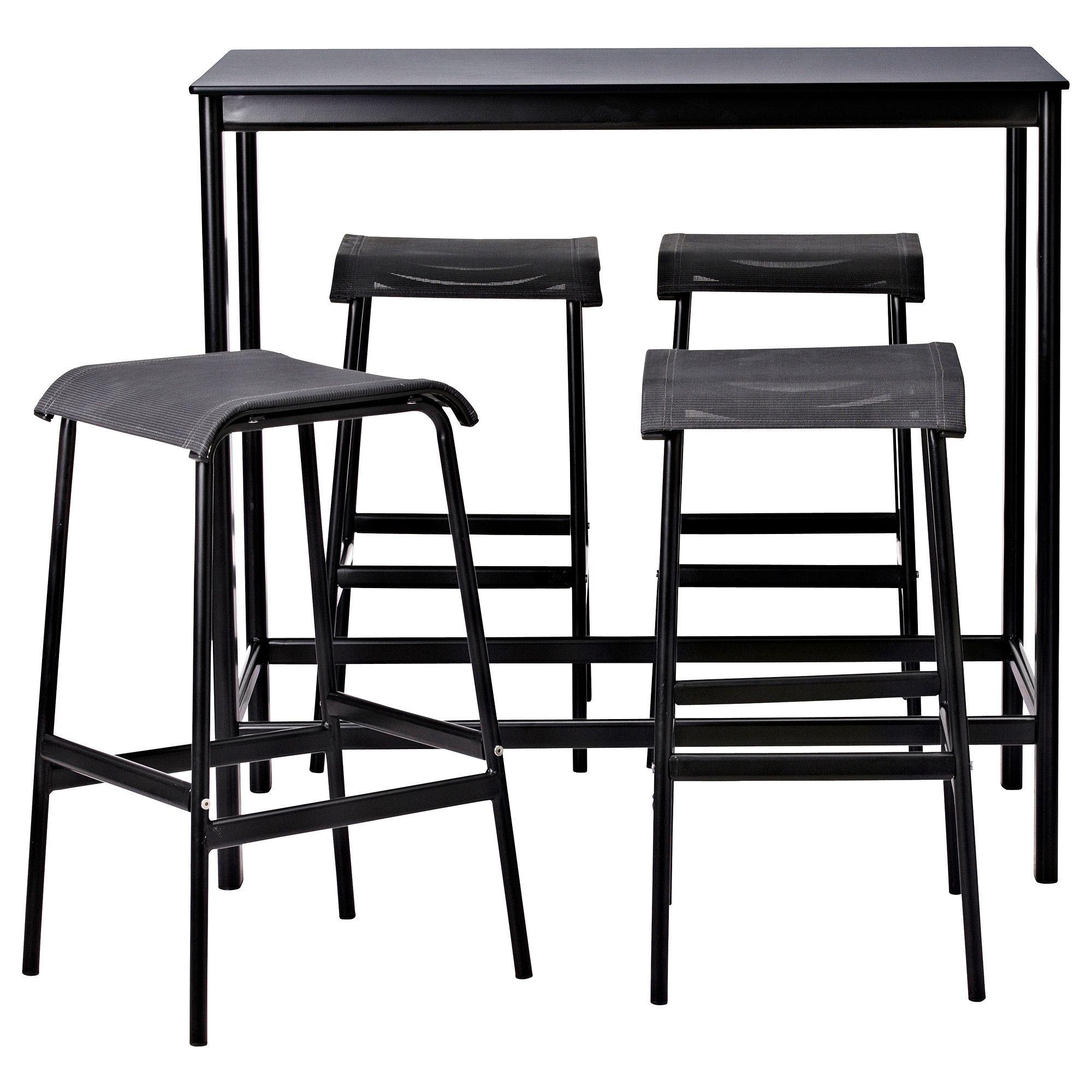 GARPEN Bar table and 4 bar stools - IKEA | Bar stool: Leg ...
