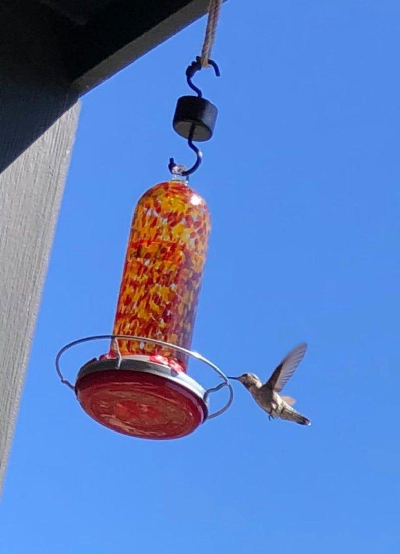 Humming Bird Feeder Glass Bird Feeder Garden Decor Bird
