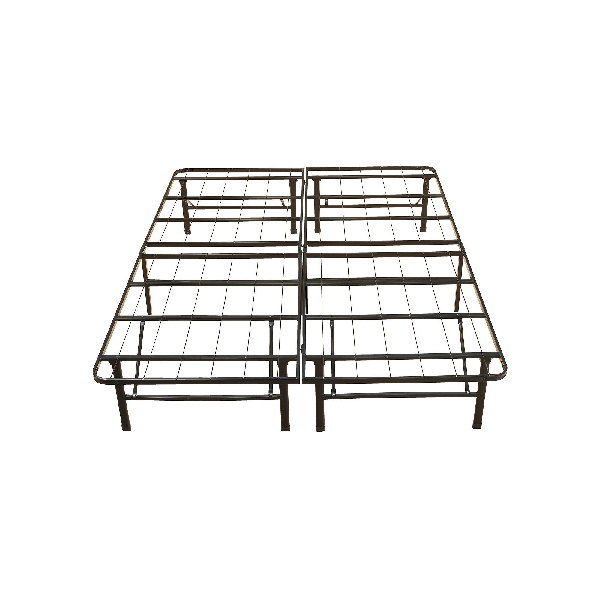 Eco Sense 14in. Metal Platform Bed Frame, Black Metal