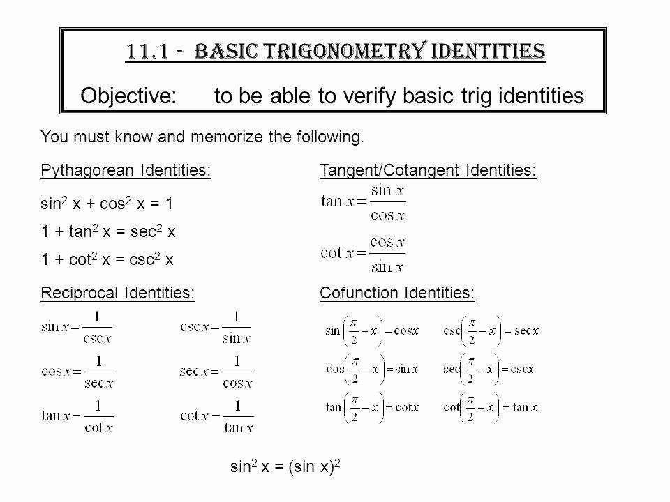 Verifying Trig Identities Worksheet Best Of Verifying Trig