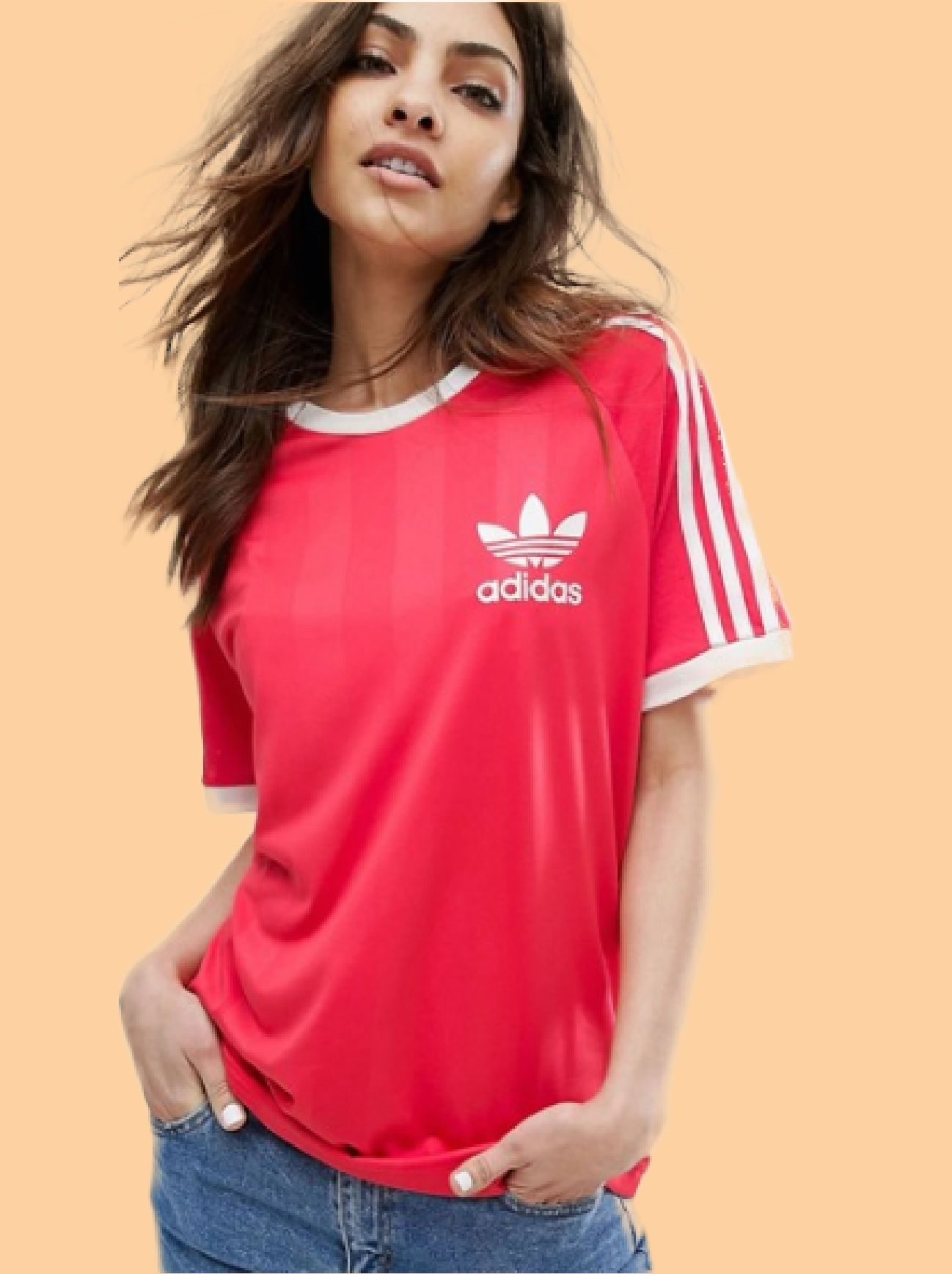 This Adidas Originals Red California T-Shirt is something you need to have. 7db87f55865
