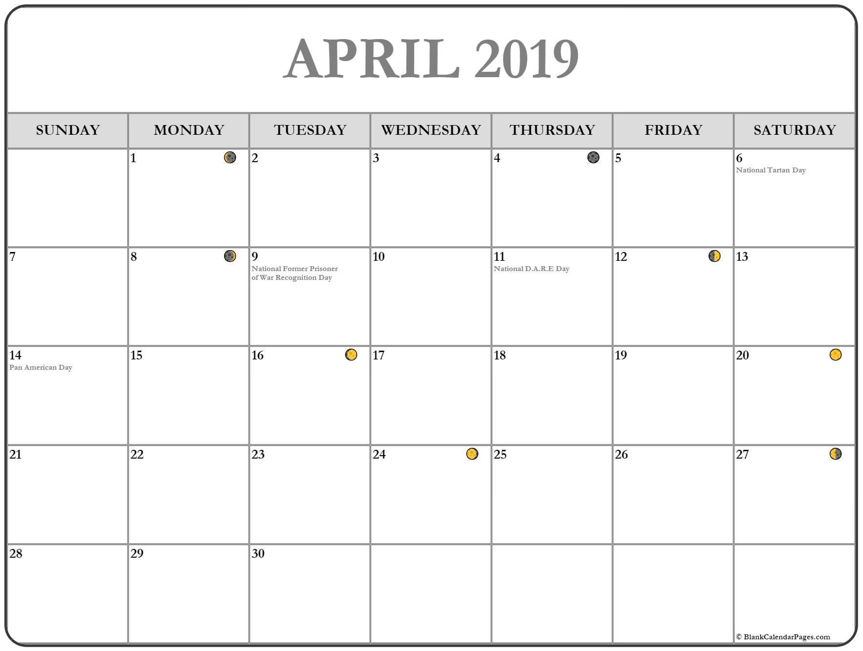 Full Moon Calendar April