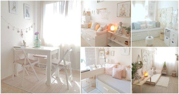 Decorar espacios pequeños Decoración de un mini piso de 45m2 - decoracion de espacios pequeos