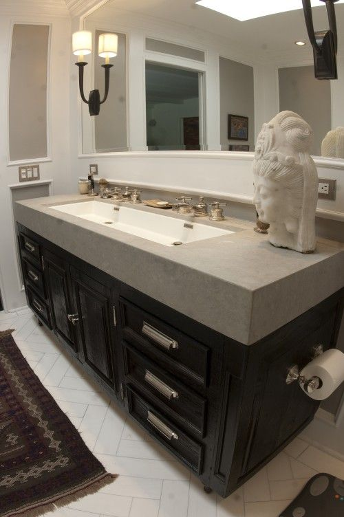 Extra Large Double Bathroom Vanities square undermount trough | bathrooms | pinterest | squares, trough