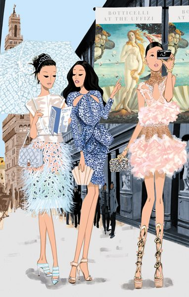 #Jordi Labanda #Fashion Illustration What better way to celebrate life than with beautiful nails, your best heels and of course a cocktail? http://www.glamnailsheelsandcocktails.com