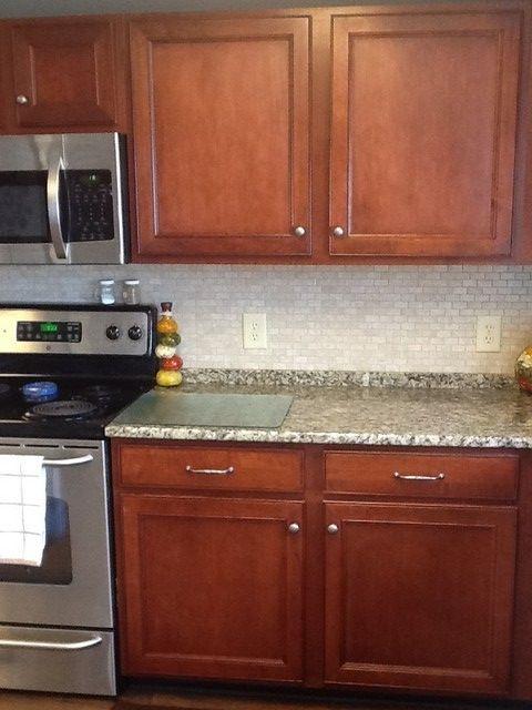 Granite And Backsplash Backsplash Diy Backsplash Brick Backsplash