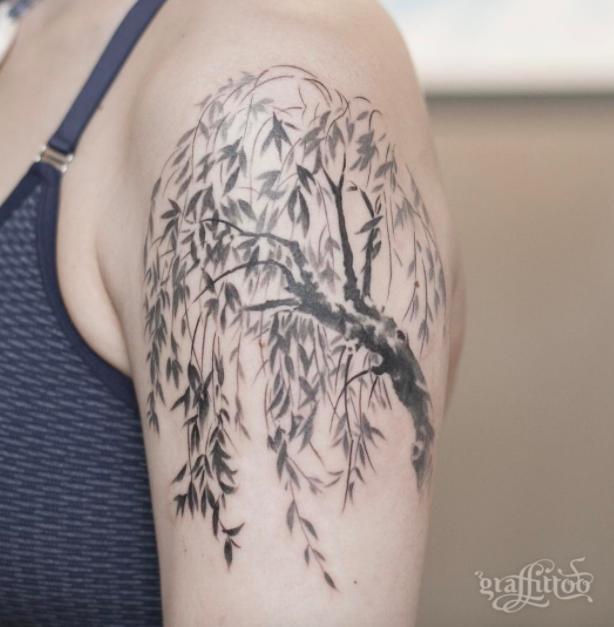 Willow Tree Tattoo Willow tree tattoos, Tree tattoo arm