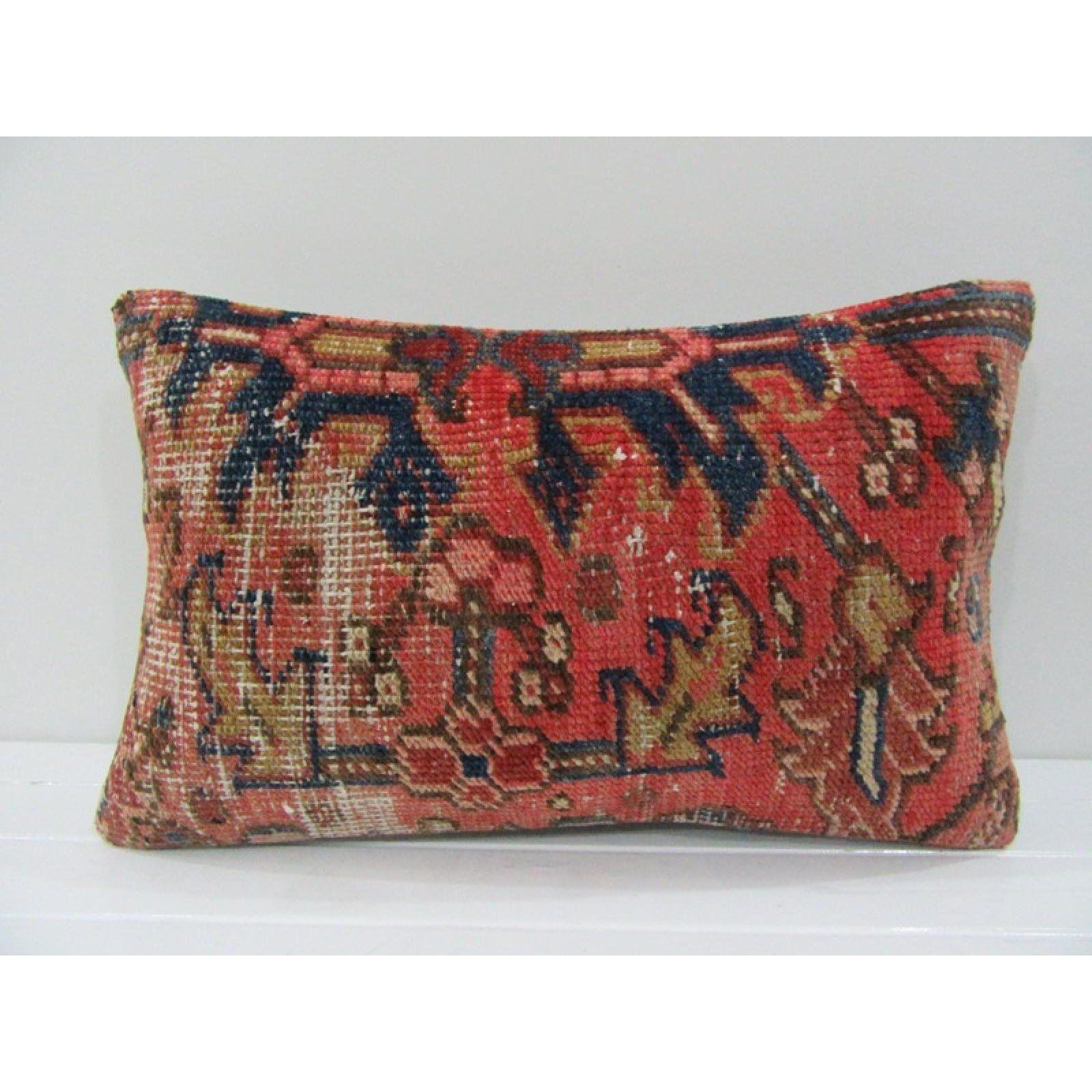 kilim pillow handmade lumbar pillow vintage pillow home living home decor design pillow wool pillow furniture pillow comfortable pillow