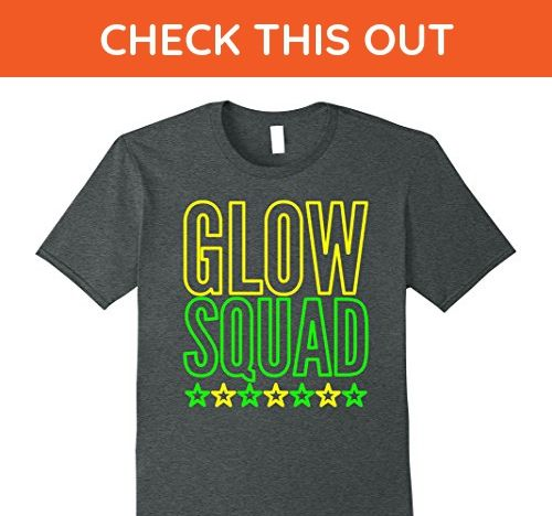 Mens Glow Party Squad Kids Birthday Gift T Shirt Small Dark Heather