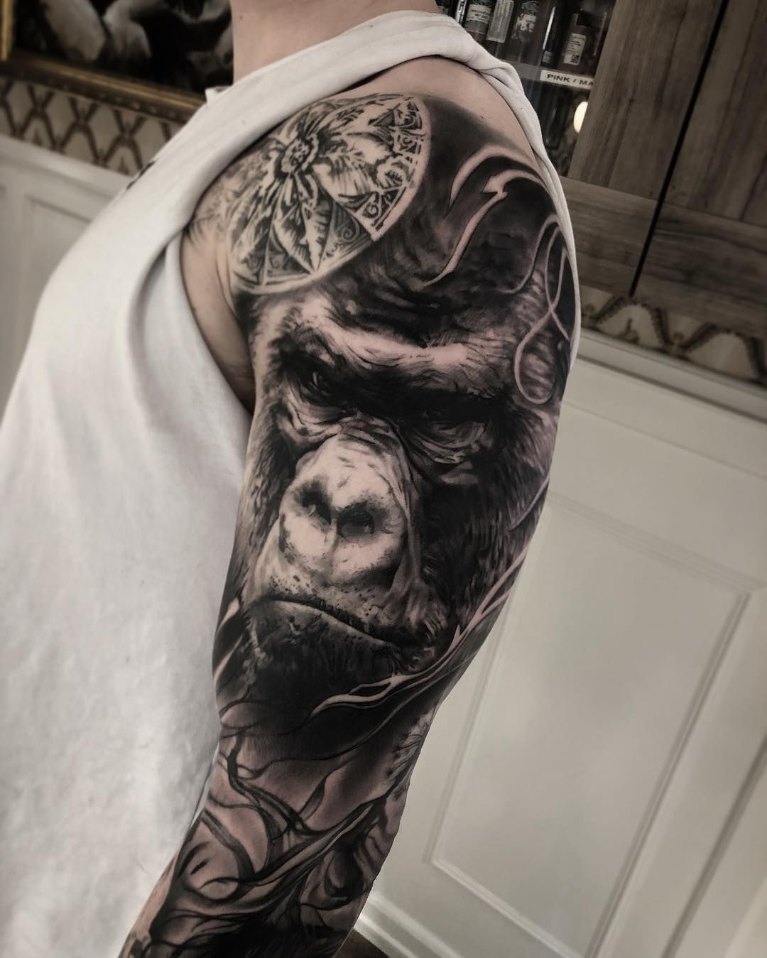 Blackgrey Realistic Tattoo By Mark Wosgerau Tattz