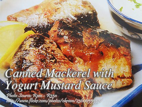 how to cook canned mackerel with yogurt mustard sauce