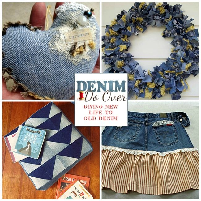 Between naps on the porch 10 fun denim projects for your for Denim craft projects