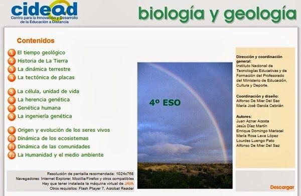 Proyecto Ed D Biología Y Geología De 4º De Eso Geología Biología Enseñando Ciencias