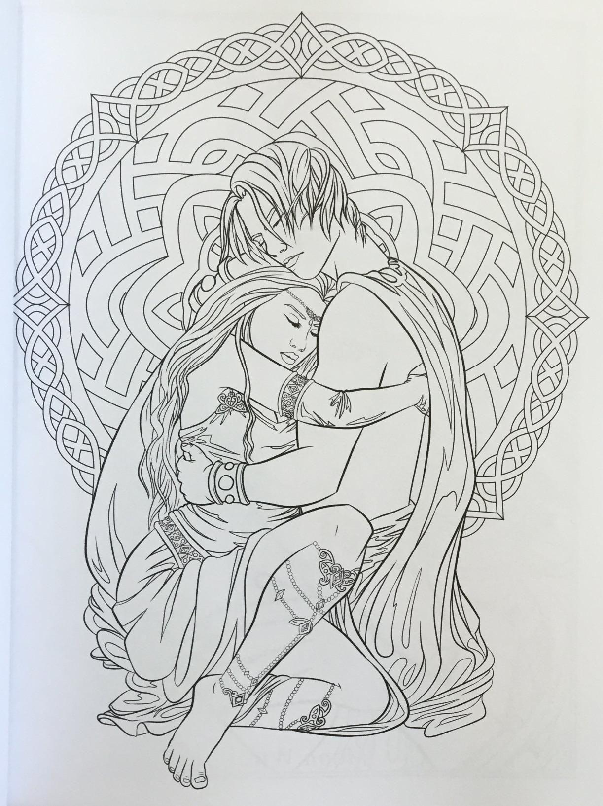 - Gothic - Dark Fantasy Coloring Book (Fantasy Art Coloring By