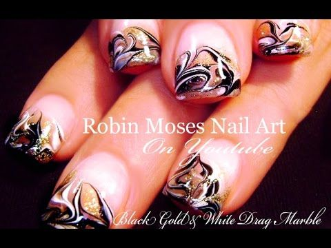 No Water Needed Marble Nail Art Tutorial Nails Pinterest
