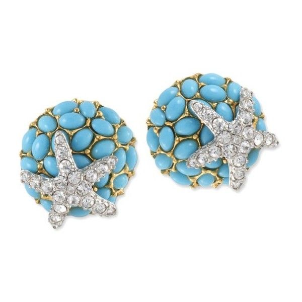 Kenneth Jay Lane Turquoise Seashell Clip Earring Turquoise b6oYt