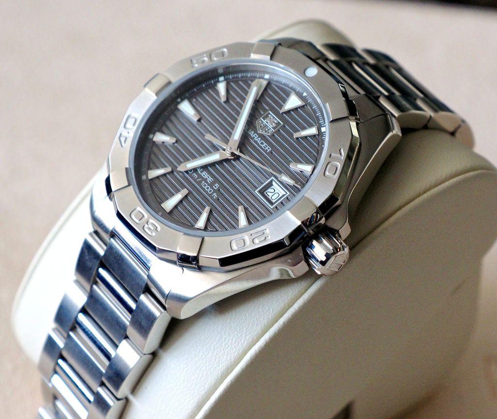 Tag heuer aquaracer 300m calibre 5 anthracite watches pinterest tag heuer for Tag heuer aquaracer