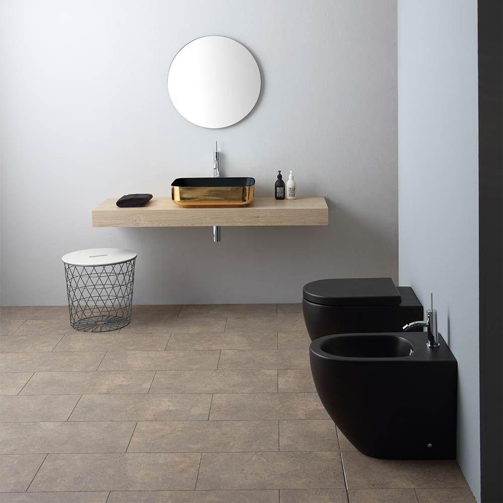 Bagno completo colorato 55x36 a terra Nemesi55 con lavabo