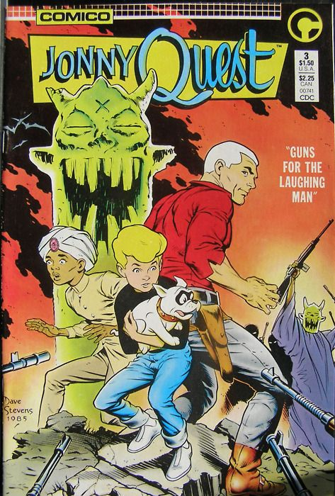 Simple Book Cover Quest : Jonny quest cover art by dave stevens comic book