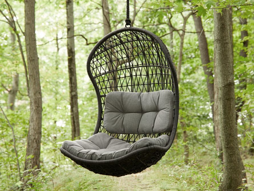 Crew Outdoor Hanging Chair With Rope Arhaus Furniture Let It All Hang Out Handwoven From Our Exclusive All Weath Hanging Chair Outdoor Hanging Chair Chair