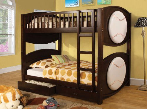 Furniture Of America Baseball Bunk Bed With 2 Drawers Twin Review