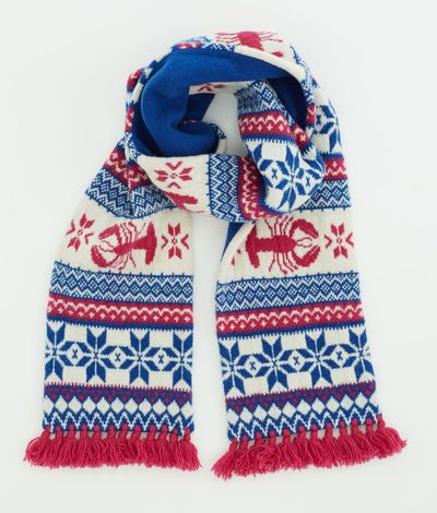 Women's Scarves: Nordic Lobster Fair Isle Scarf for Women ...