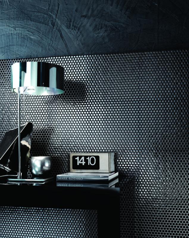 chrome tile pattern paillettes Lea Ceramiche Ceramic