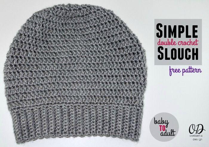 Simple Double Crochet Slouch Hat | Gorros y Ganchillo