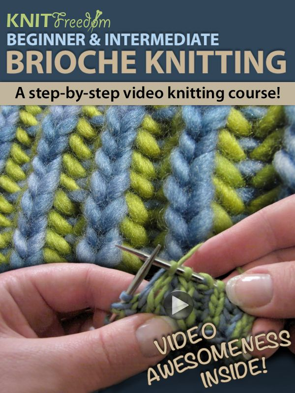 Learn Nancy Marchant\'s style of brioche knitting without the book ...