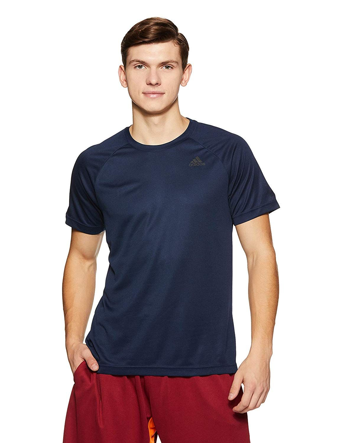 aa52dcb107af2 Adidas Men's Plain Regular Fit T-Shirt: Amazon.in: Clothing ...