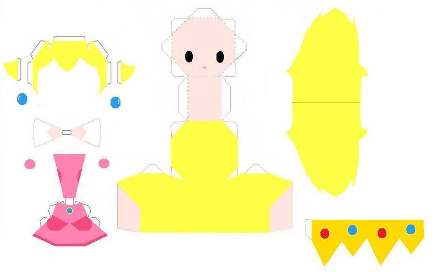 anime papercraft | Peach Papercraft Template by AnimeGang ...