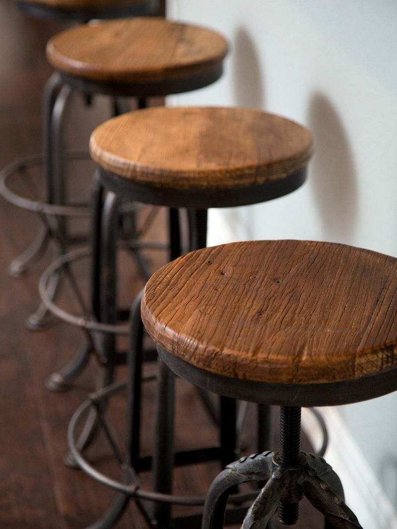 A nice and totally different look of rustic bar stools style concepts metal stools ideas