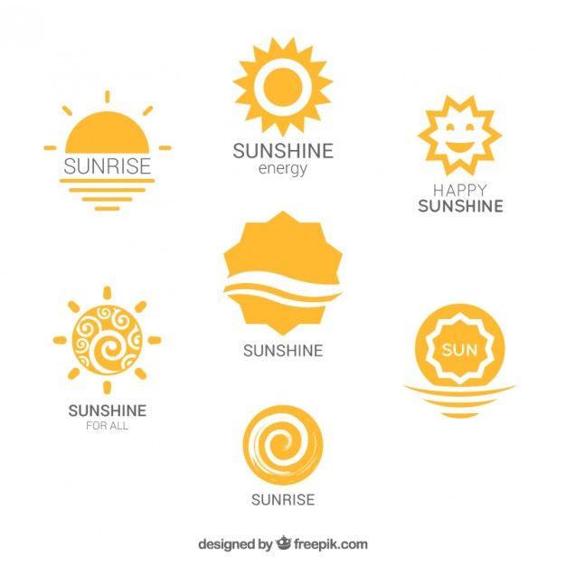 Variety Of Sun Logos Sun Logo Sunshine Logo Sunny Logo