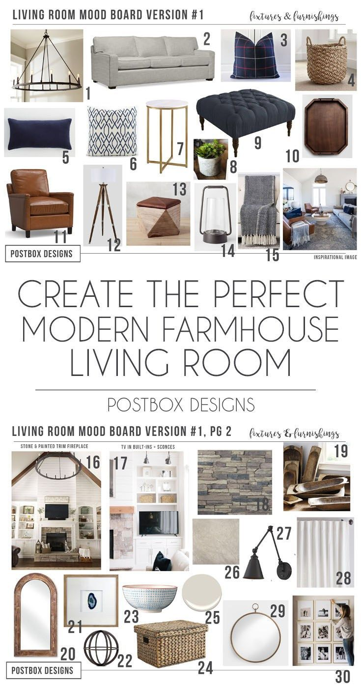 Postbox Designs Interior E Design Farmhouse Meets Modern Living Room Makeover Decor