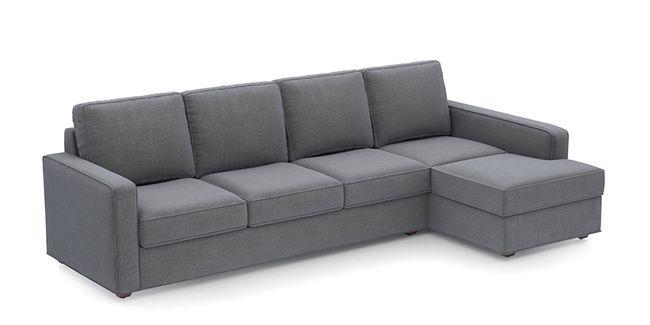 Apollo Sofa Smoke Fabric Sofa Material Compact Sofa Size Soft