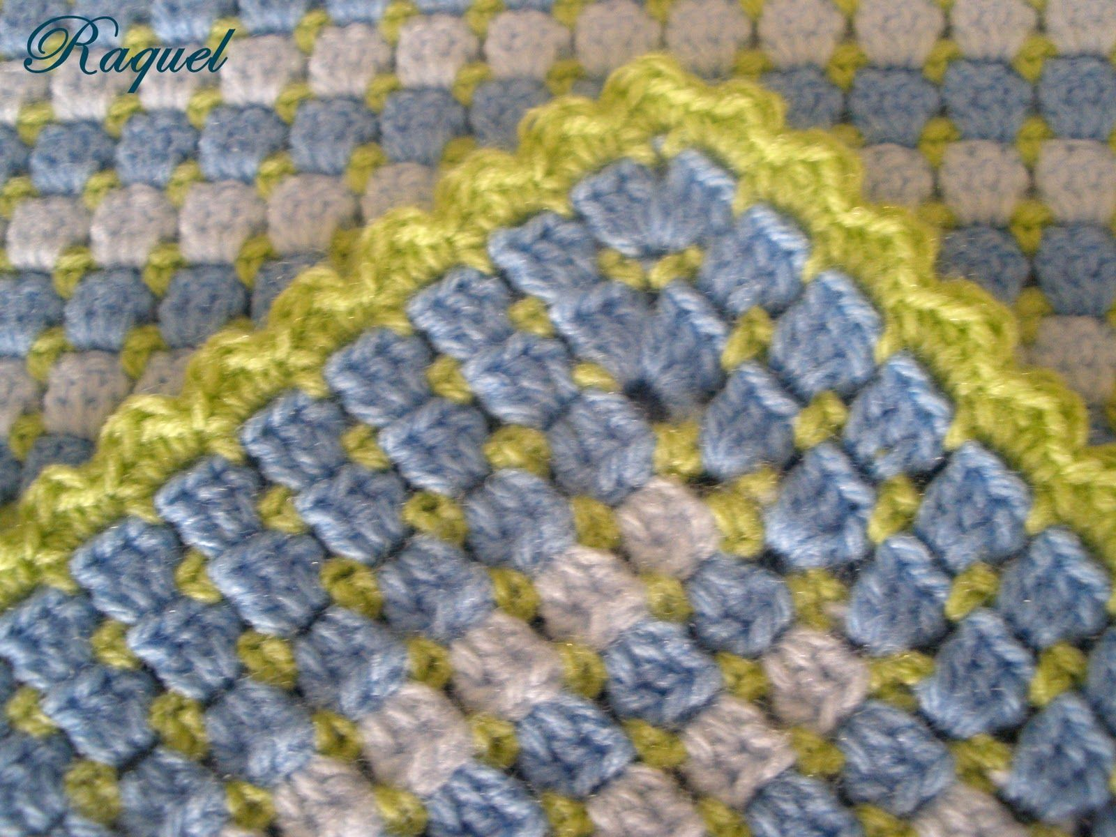 Box stitch with box stitch and shell edging | CROCHET AFGHANS ...