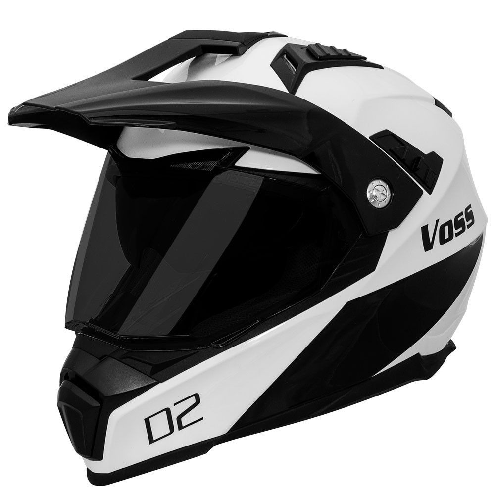 601 D2 Dual Sport Helmet Gloss White Diamond Dual sport