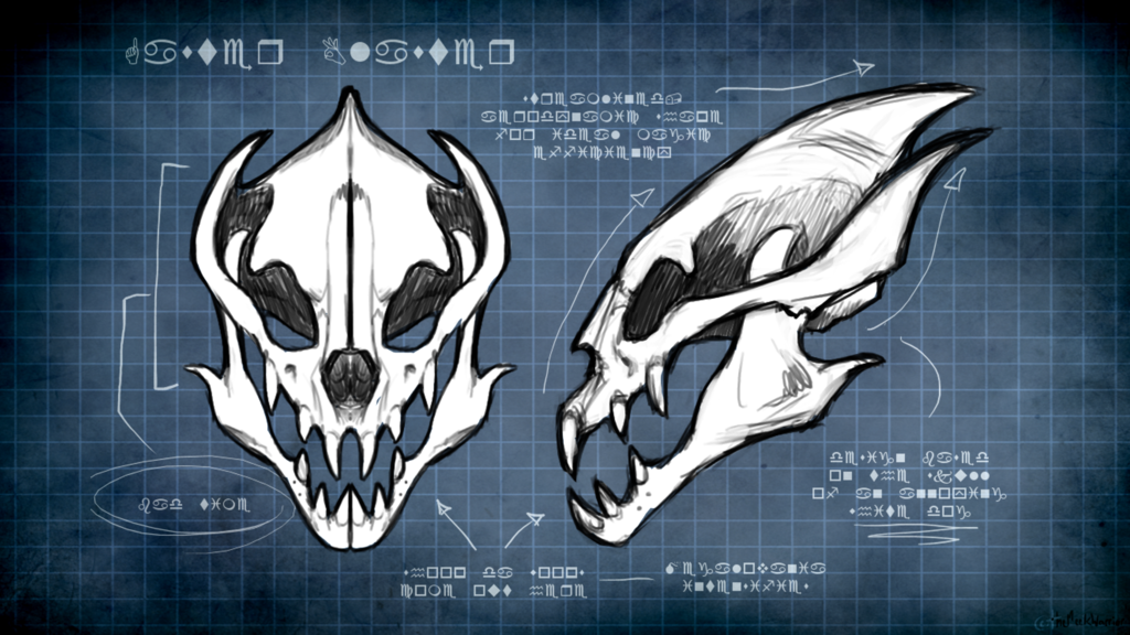 gaster blaster by themeekwarrior i m horrible at drawing gaster