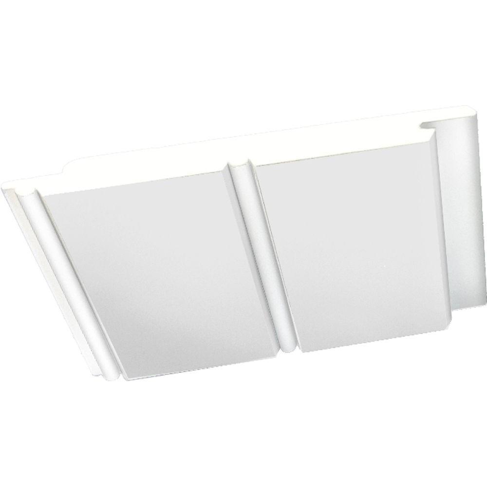 5 1 2 In X 96 In White Pvc Bead Board Siding 8 Piece Pvc Beadboard Beadboard Mold In Bathroom