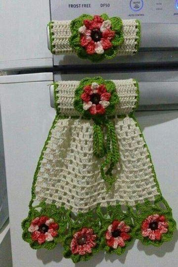 Diy 3 adornos para la cocina tejidos a crochet youtube.
