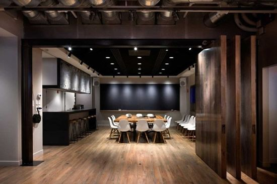 great lighting and dark ceiling icrave new york office design