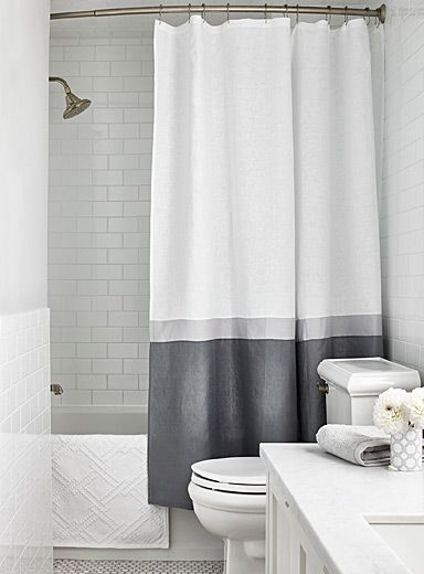 Samanthas Stripe Shower Curtain
