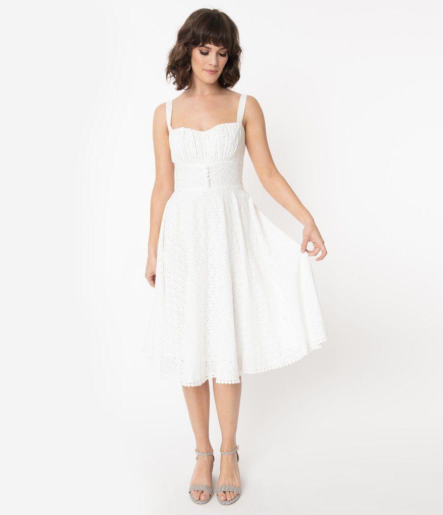 Pin By Diana N On Buy White Swing Dress White Vintage Dress Swing Dress [ 1023 x 879 Pixel ]
