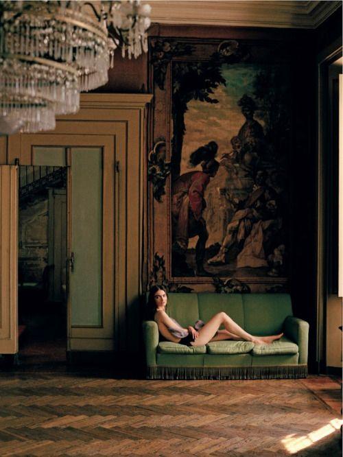 """Ti svelo unsegreto,"" featuring Anna Maria Urazhevskaya, photographed by Matteo Montanari for D La Reppublica (August 24, 2013)."