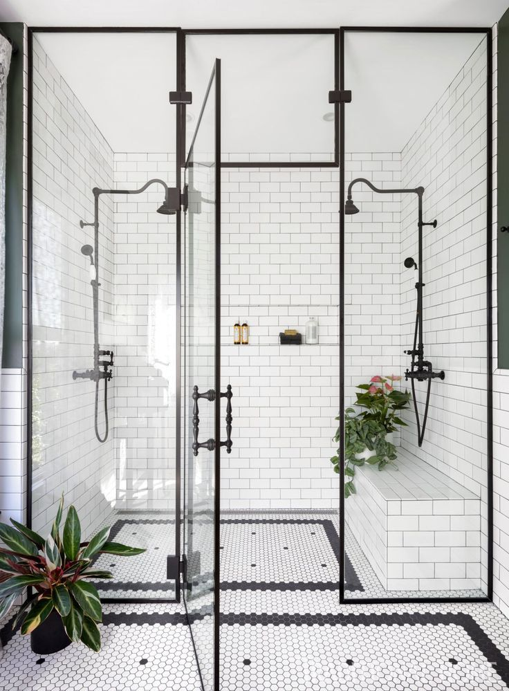 #Tale #victorians First, to help the old house welcome modern life—without changing its footprint—she converted a bedroom into a master bath, installing a custom walk-in shower and a double vanity crafted from an antique cabinet. #bathroomvanitydecor